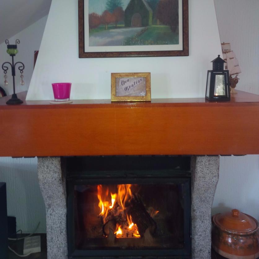 la chimenea es un lugar especial cuando hace frío