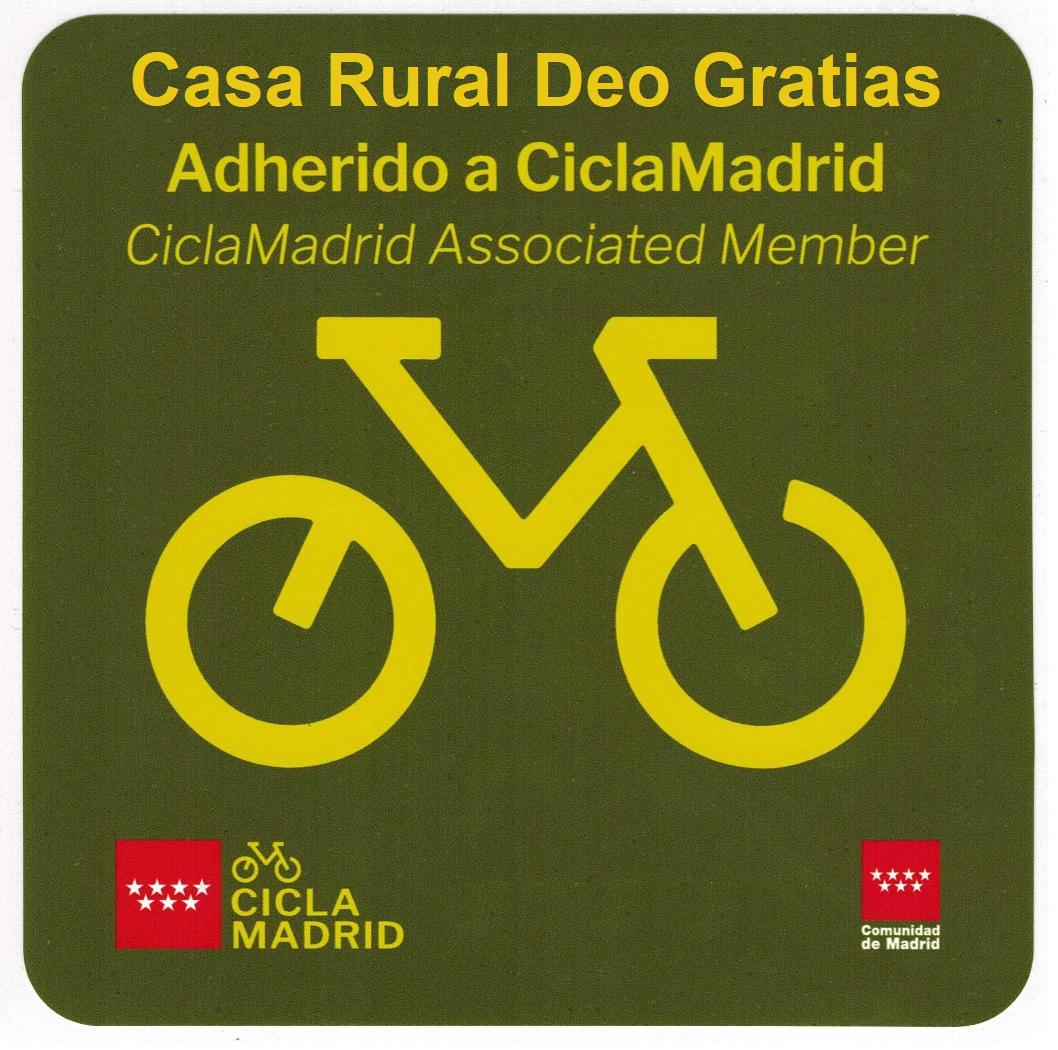Ciclamadrid. Comercio Adherido. Casa Rural Deo Gratias. Madrid.png