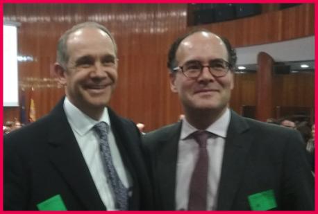 Ignacio Velilla Secretario General de FEDMA Federacion Madrileña de Familias Numerosas por AFAN y Pedro Dubié Casa Rural Deo Gratias